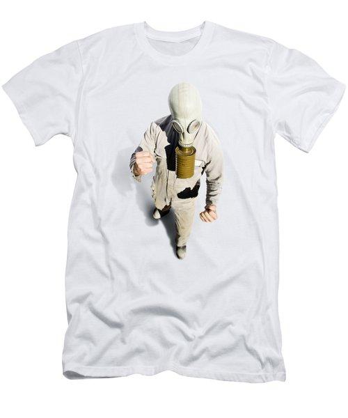 Biohazard Battle Men's T-Shirt (Athletic Fit)