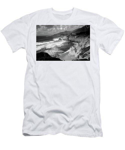 Black And White Big Sur Men's T-Shirt (Athletic Fit)