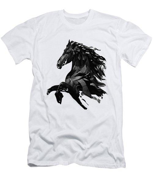 Black Horse Men's T-Shirt (Athletic Fit)