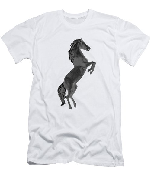 Black Horse Men's T-Shirt (Athletic Fit)