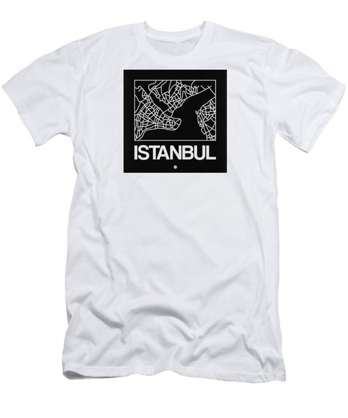 Black Map Of Istanbul Men's T-Shirt (Athletic Fit)