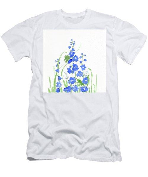 Blue Larkspur  Men's T-Shirt (Athletic Fit)