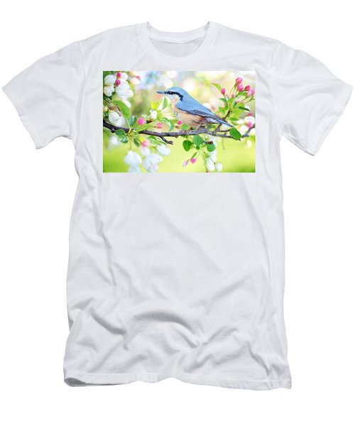 Blue Orange Bird Men's T-Shirt (Athletic Fit)