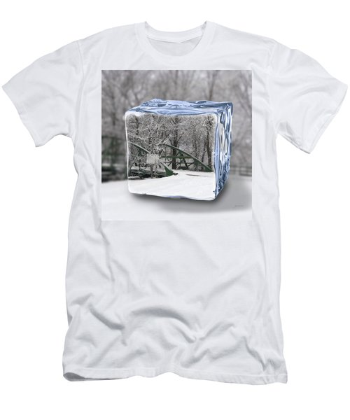 Blue Water Ice Cube Men's T-Shirt (Athletic Fit)