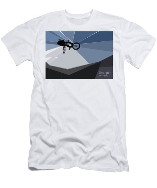 Bmx Biking  Men's T-Shirt (Athletic Fit)