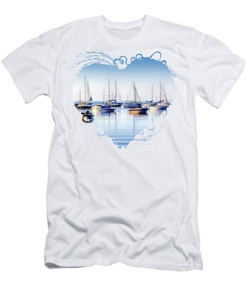 Boat Reflections Panorama Men's T-Shirt (Athletic Fit)