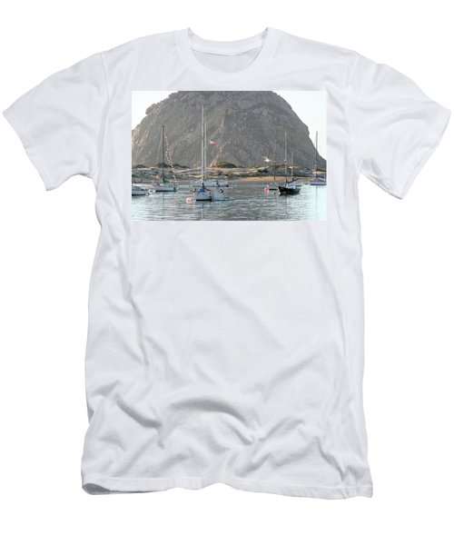 Boats In Morro Bay Men's T-Shirt (Athletic Fit)