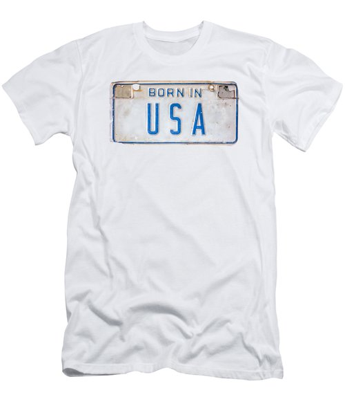 Born In The Usa Men's T-Shirt (Athletic Fit)
