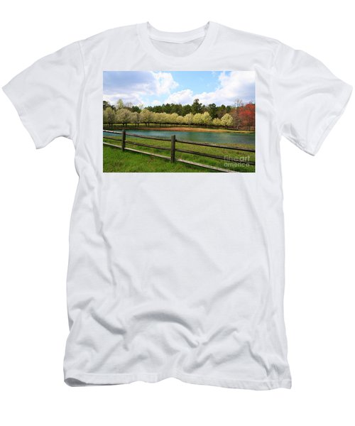 Bradford Pear Trees Blooming Men's T-Shirt (Athletic Fit)