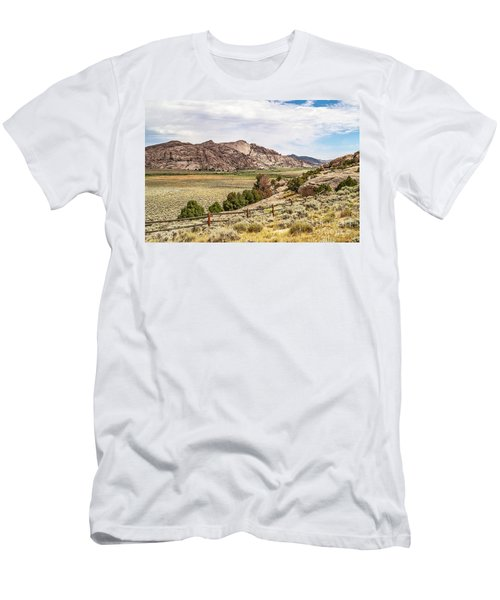 Breathtaking Wyoming Scenery Men's T-Shirt (Athletic Fit)
