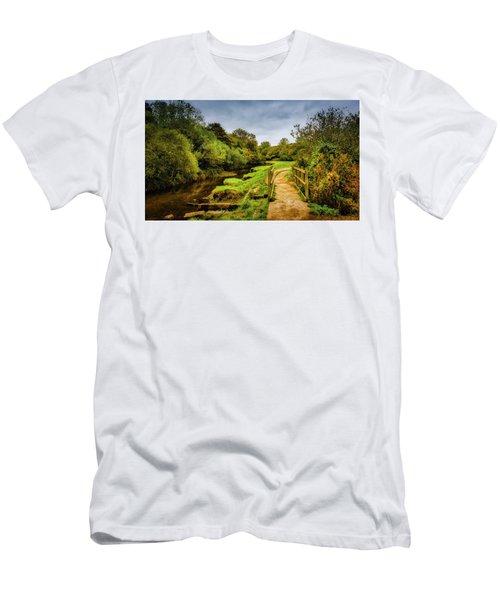Bridge With Falling Colors Men's T-Shirt (Athletic Fit)