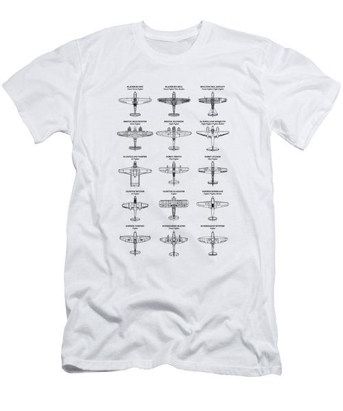 British Fighters Of Ww2 Men's T-Shirt (Athletic Fit)