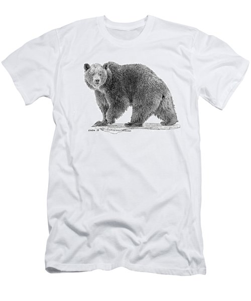Brown Black And White Men's T-Shirt (Athletic Fit)