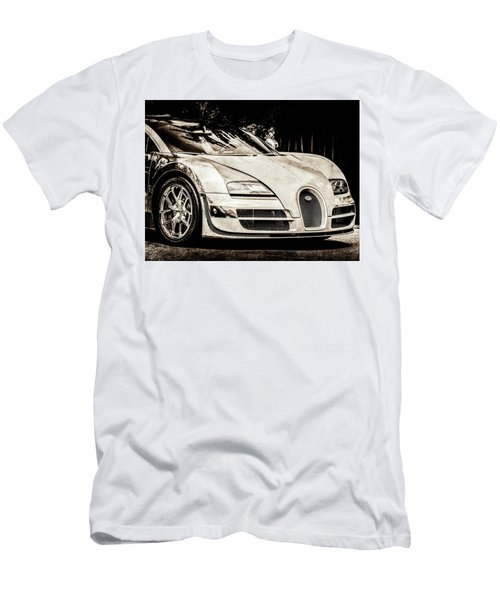 Men's T-Shirt (Athletic Fit) featuring the photograph Bugatti Legend - Veyron Special Edition -0844scl2 by Jill Reger