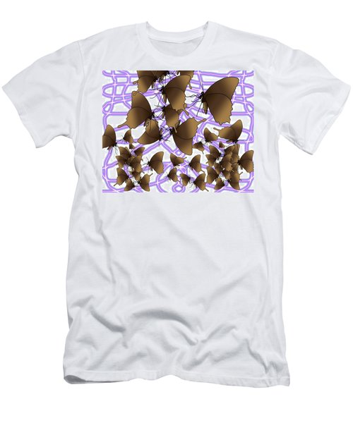 Butterfly Patterns 16 Men's T-Shirt (Athletic Fit)