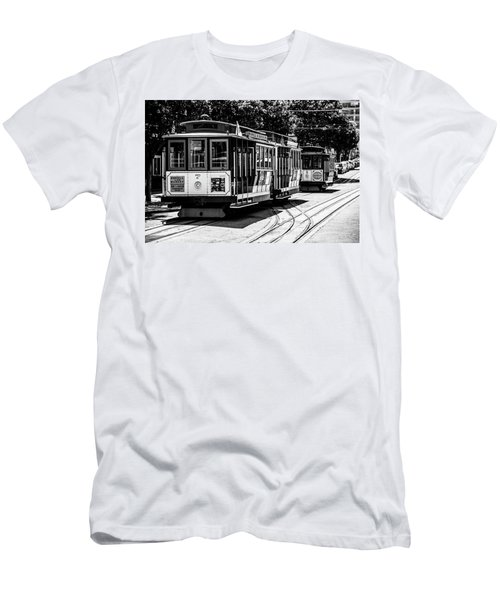 Men's T-Shirt (Athletic Fit) featuring the photograph Cable Cars by Stuart Manning