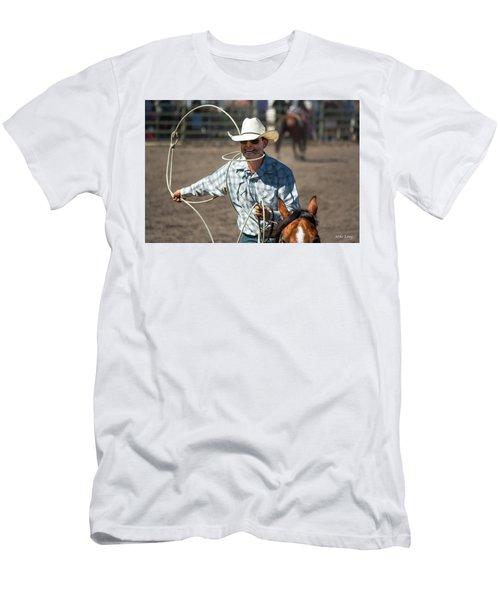 Calf Roper Men's T-Shirt (Athletic Fit)