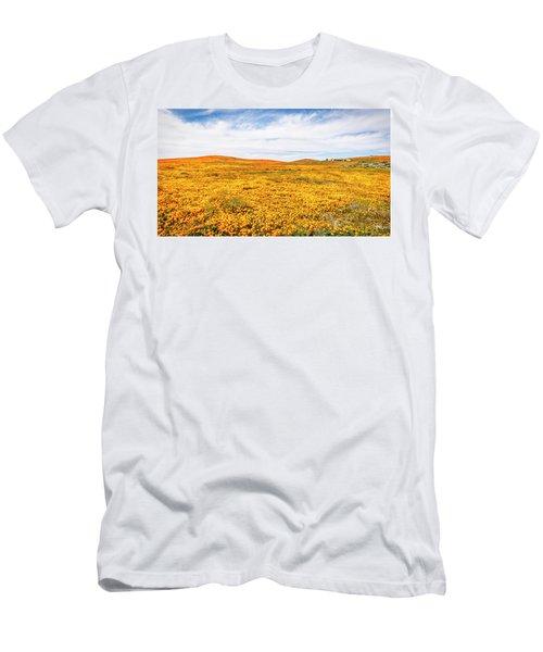 California Poppy Superbloom 2019 - Panorama #2 Men's T-Shirt (Athletic Fit)
