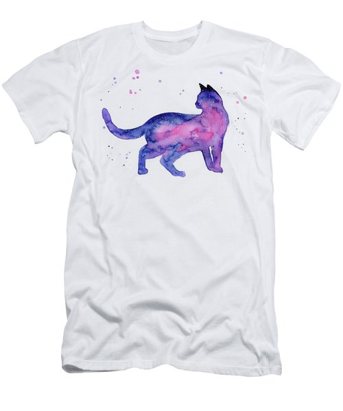 Cat In Space Men's T-Shirt (Athletic Fit)