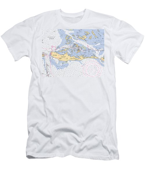 Cayo Costa Nautical Chart Men's T-Shirt (Athletic Fit)
