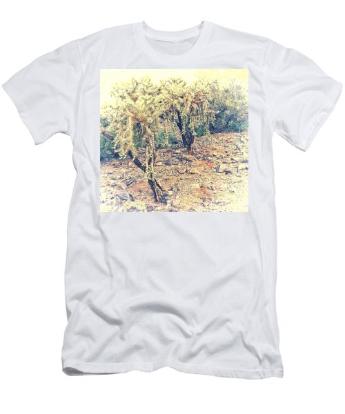 Chain Fruit Cholla Men's T-Shirt (Athletic Fit)