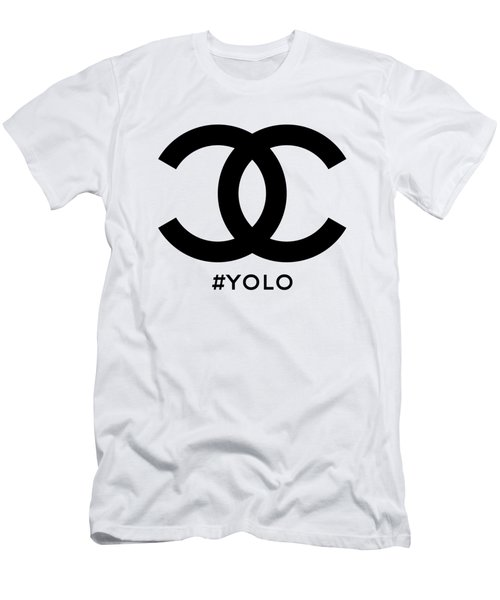 Chanel Yolo - You Only Live Once Men's T-Shirt (Athletic Fit)