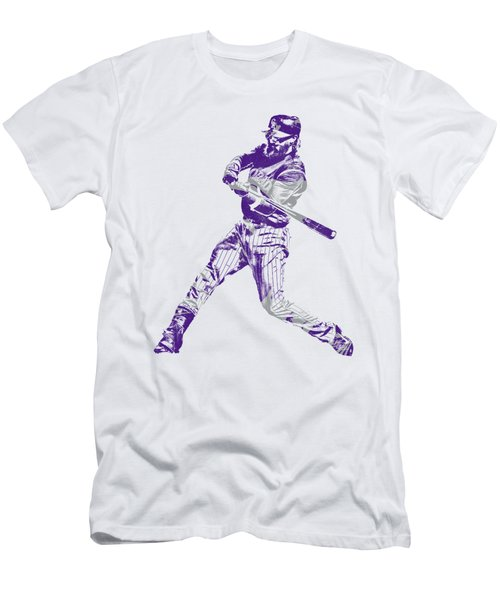 Charlie Blackmon Colorado Rockies Pixel Art 2 Men's T-Shirt (Athletic Fit)