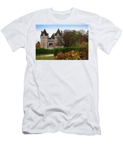 Men's T-Shirt (Athletic Fit) featuring the photograph Chateau, Near Beynac, France by Mark Shoolery
