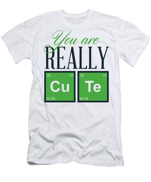 Chemistry Fun You Are Really Cu Te Men's T-Shirt (Athletic Fit)