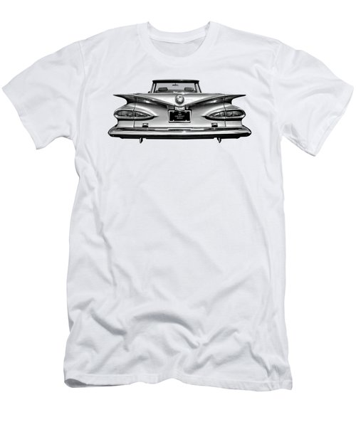 Chevrolet Impala 1959 In Black And White Men's T-Shirt (Athletic Fit)