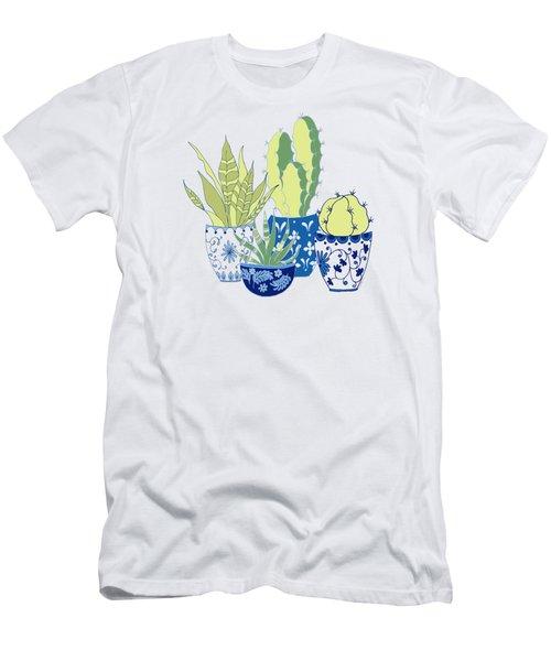 Chinoiserie Cactus Garden Men's T-Shirt (Athletic Fit)