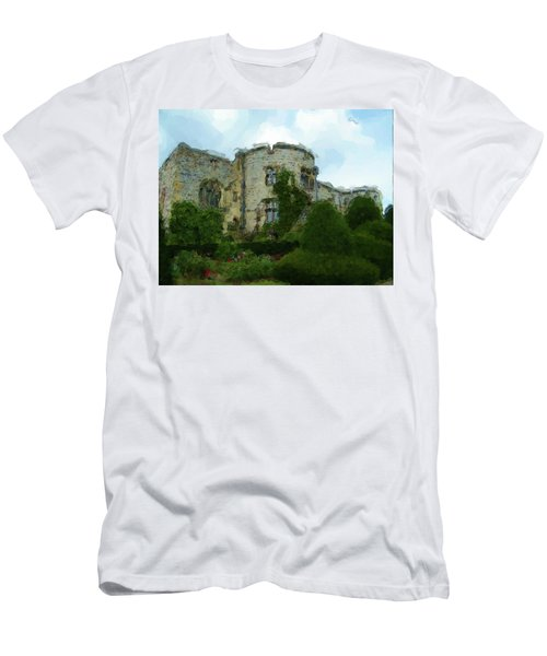 Chirk Castle Painting Men's T-Shirt (Athletic Fit)