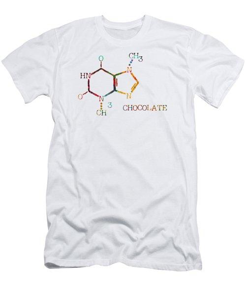 Chocolate Molecule Men's T-Shirt (Athletic Fit)