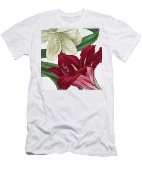 Christmas Amaryllis I Men's T-Shirt (Athletic Fit)