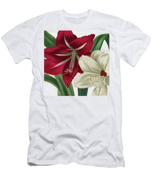 Christmas Amaryllis II Men's T-Shirt (Athletic Fit)