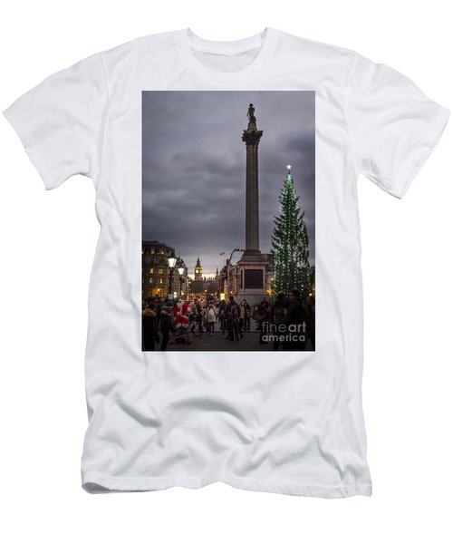 Christmas In Trafalgar Square, London Men's T-Shirt (Athletic Fit)