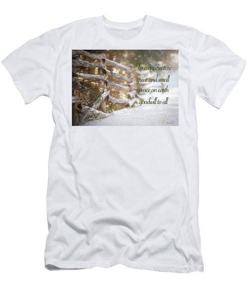 Christmas W/bobcat Men's T-Shirt (Athletic Fit)