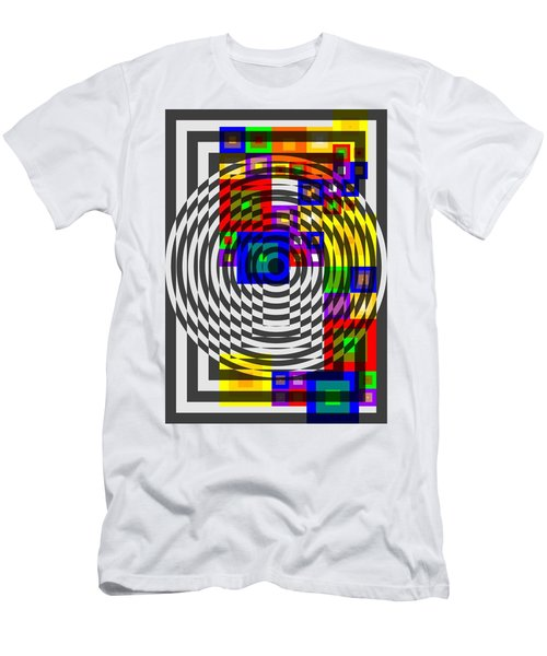 Men's T-Shirt (Athletic Fit) featuring the painting Circular Colour Fusion  by Arttantra