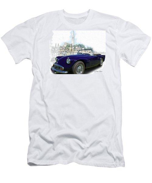 Classic British Sports Car In Croatia Men's T-Shirt (Athletic Fit)