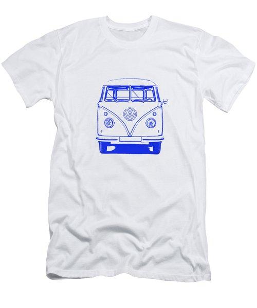 Clear Blue Vw Bus Graphic Men's T-Shirt (Athletic Fit)