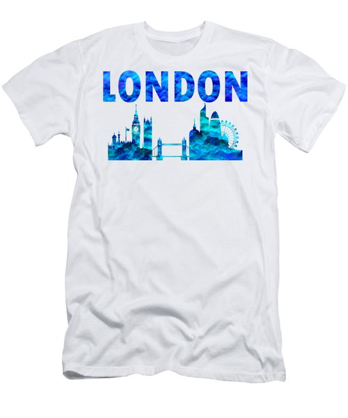 Men's T-Shirt (Athletic Fit) featuring the digital art Cloudy Day In London by David Millenheft