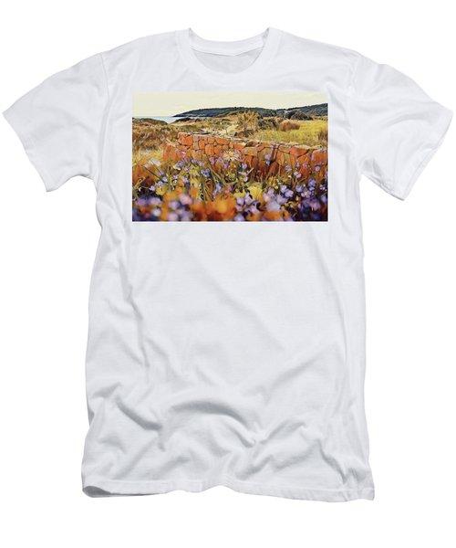 Coastal Pathway Throuigh The Dunes Men's T-Shirt (Athletic Fit)