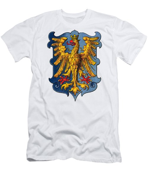 Men's T-Shirt (Athletic Fit) featuring the drawing Coat Of Arms Of Friuli  by Hugo Stroehl