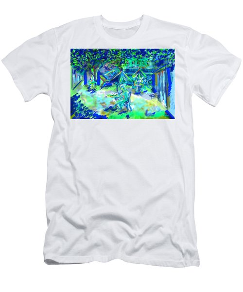 Colorful Courtyard Men's T-Shirt (Athletic Fit)