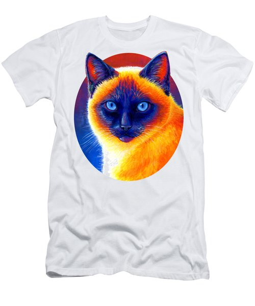 Jewel Of The Orient - Colorful Siamese Cat Men's T-Shirt (Athletic Fit)