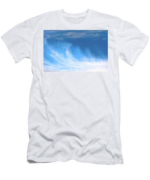 Colours. Blue Men's T-Shirt (Athletic Fit)