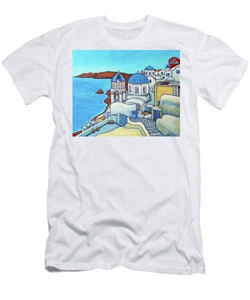 Colours Of Santorini Men's T-Shirt (Athletic Fit)
