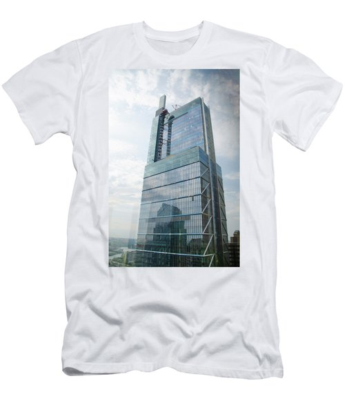 Men's T-Shirt (Athletic Fit) featuring the photograph Comcast Technology Center - Philadelphia by Bill Cannon