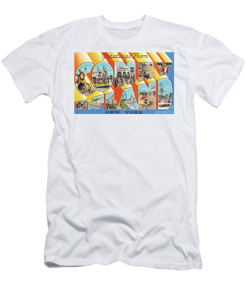 Coney Island Greetings - Version 1 Men's T-Shirt (Athletic Fit)