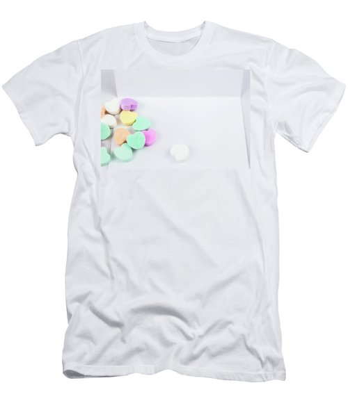 Conversation Hearts On A Notecard Men's T-Shirt (Athletic Fit)